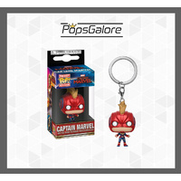 Captain Marvel Masked - Pocket Pop! Keychain