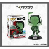 Star Wars - Boba Fett (Green Chrome) #297 - SDCC 2019 Pop Vinyl
