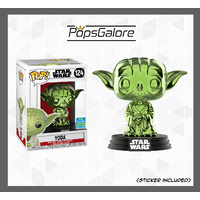 Star Wars - Yoda (Green Chrome) #124 - SDCC 2019 Pop Vinyl