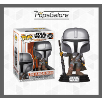 Star Wars: The Mandalorian - Mandalorian Pose Metallic #345 - Pop Vinyl
