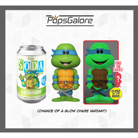 TMNT - Leonardo with a CHANCE OF A CHASE - Soda Vinyl Figurines