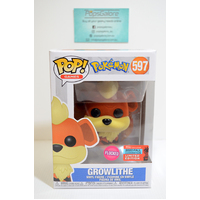 "Pokemon: Growlithe ""Flocked"" #597 (2020 NYCC Fall Convention) - Pop Vinyl"