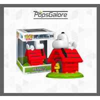 Peanuts - Snoopy & Woodstock with Doghouse #856 - Deluxe Pop Vinyl