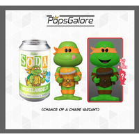TMNT - Michelangelo with a CHANCE OF A CHASE - Soda Vinyl Figurines