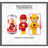 The Flash with a CHANCE OF A CHASE - Soda Vinyl Figurines
