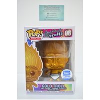 "Good Luck Trolls - Gold Troll #08 ""Diamond Glitter"" (Funko Shop) - Pop Vinyl"