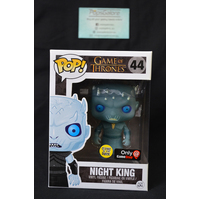 "Game of Thrones: Night King ""Glow"" #44 (Gamestop) ERROR BLUE HEAD GLOW - Pop Vinyl"