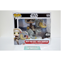 SW: Hoth Han Solo w/Tauntaun #125 (Smuggler's Bounty) - Pop Vinyl (Damaged Window)