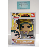 My Hero Academia: Deku in Onesie #494 (Gamestop) - Pop Vinyl