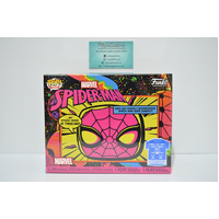 "Marvel Spider-Man ""Blacklight"" (Target) Pop Vinyl & X-Large T-Shirt Box Set"