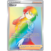 "173/163 Cheryl Secret Rare ""Hyper Rainbow"" - Pokemon TCG SWSH Battle Styles"