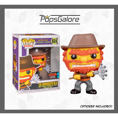 The Simpsons - Evil Groundskeeper Willie - NYCC 2019 Pop Vinyl