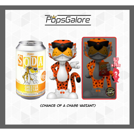 Cheetos - Chester with a CHANCE OF A CHASE - Soda Vinyl Figurines