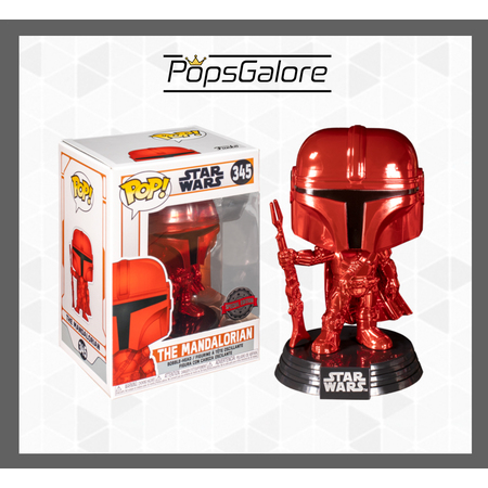 "Star Wars: Mandalorian ""Red Metallic"" #345 - Pop Vinyl"