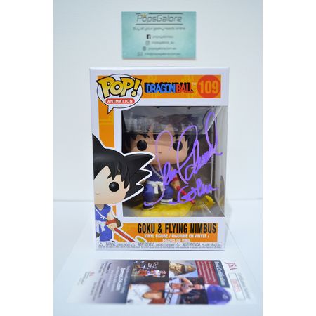"Dragonball: Goku & Flying Nimbus #109 ""Signed by Sean Schemmel"" (7bap 105pcs) - Pop Vinyl"
