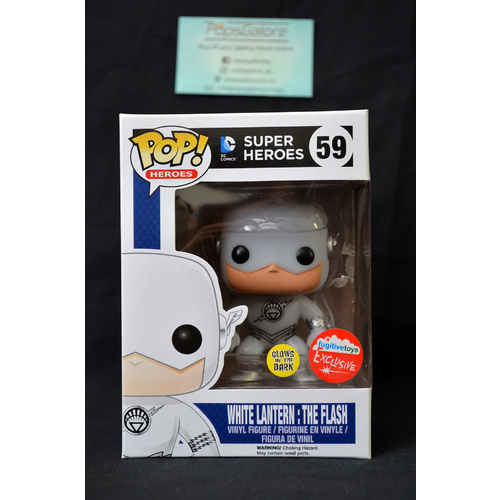 White Lantern Flash GITD (Fugitivetoys) - Pop Vinyl